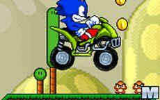 Sonic vai em moto ao mundo do Mario