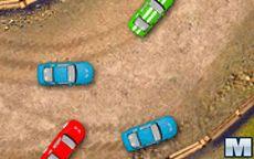 Uma veloz corrida de carros