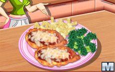 Sara cozinheira: frango à parmegiana