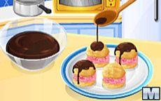 Cozinha com a Sara: Profiteroles com sorvete