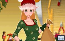 Little Christmas Elf Dress Up Game