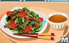Na cozinha com a Sara: salada tailandesa de carne