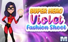 Superhero Violet Fashion Shoot